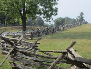 manassas battlefield fence